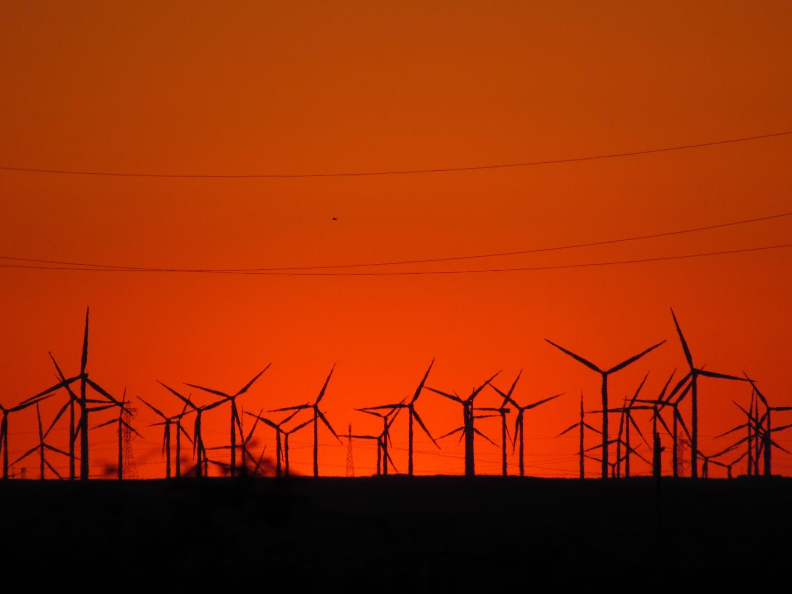 Turbine-sunset