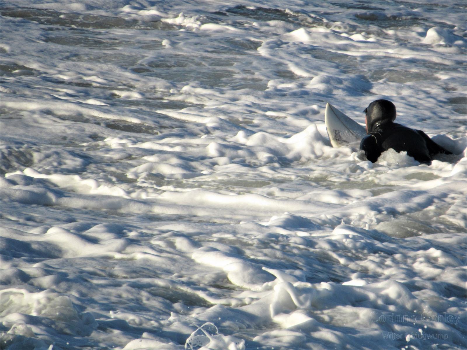 Board and sea foam